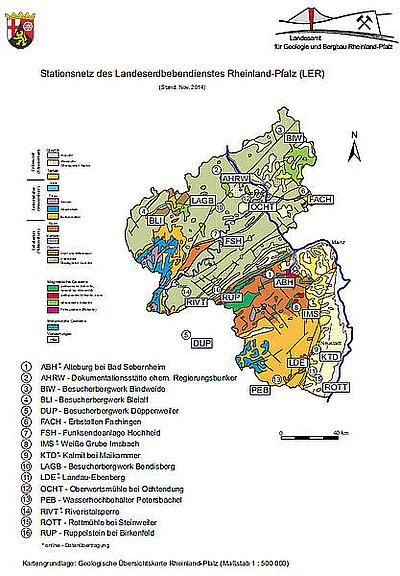Erdbeben Deutschland Karte.Lgb Rlp De Erdbeben Stationsnetz